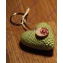 Nyckelringshjärta grönt